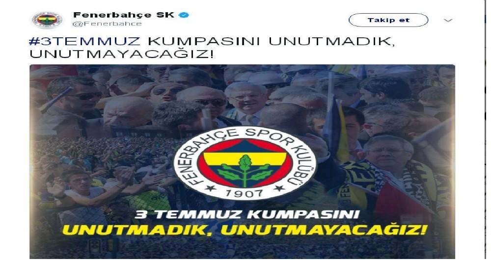 Fenerbahçe, 3 Temmuzu Unutmadı