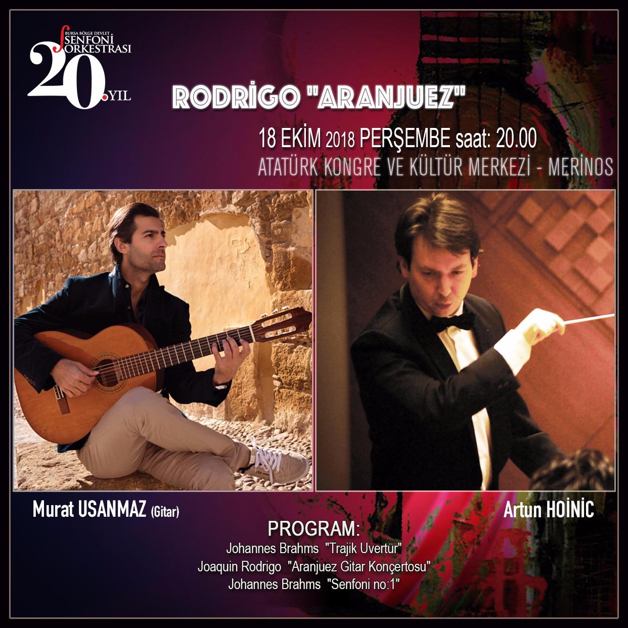 Brahms ve Rodrigo BBDSO Sahnesinde