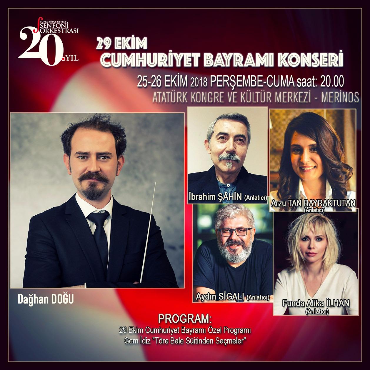 Cumhuriyet Bayramı Coşkusu BBDSO Sahnesinde