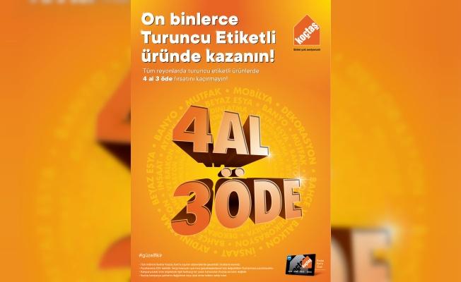 KOÇTAŞ'A GELENLER 4 ALIYOR, 3 ÖDÜYOR