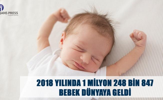 2018 YILINDA 1 MİLYON 248 BİN 847 BEBEK DÜNYAYA GELDİ
