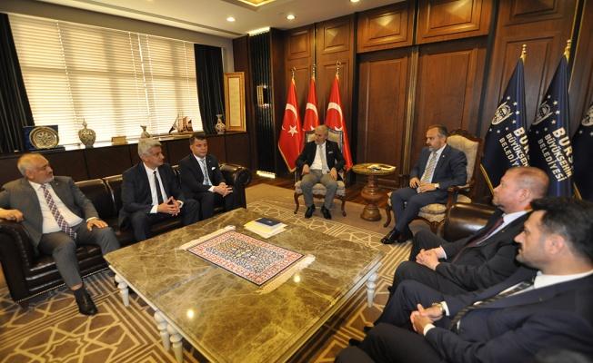 İTSO'DAN ALİNUR AKTAŞ'A ZİYARET