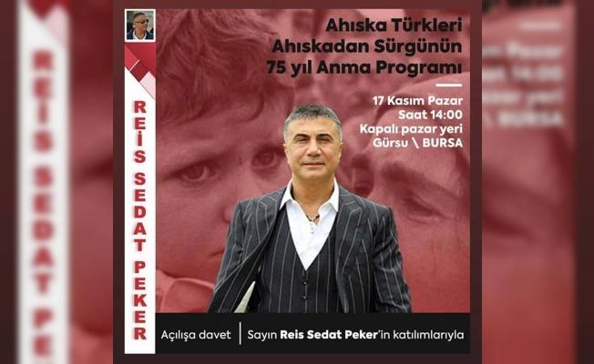 SEDAT PEKER BURSA'YA GELİYOR
