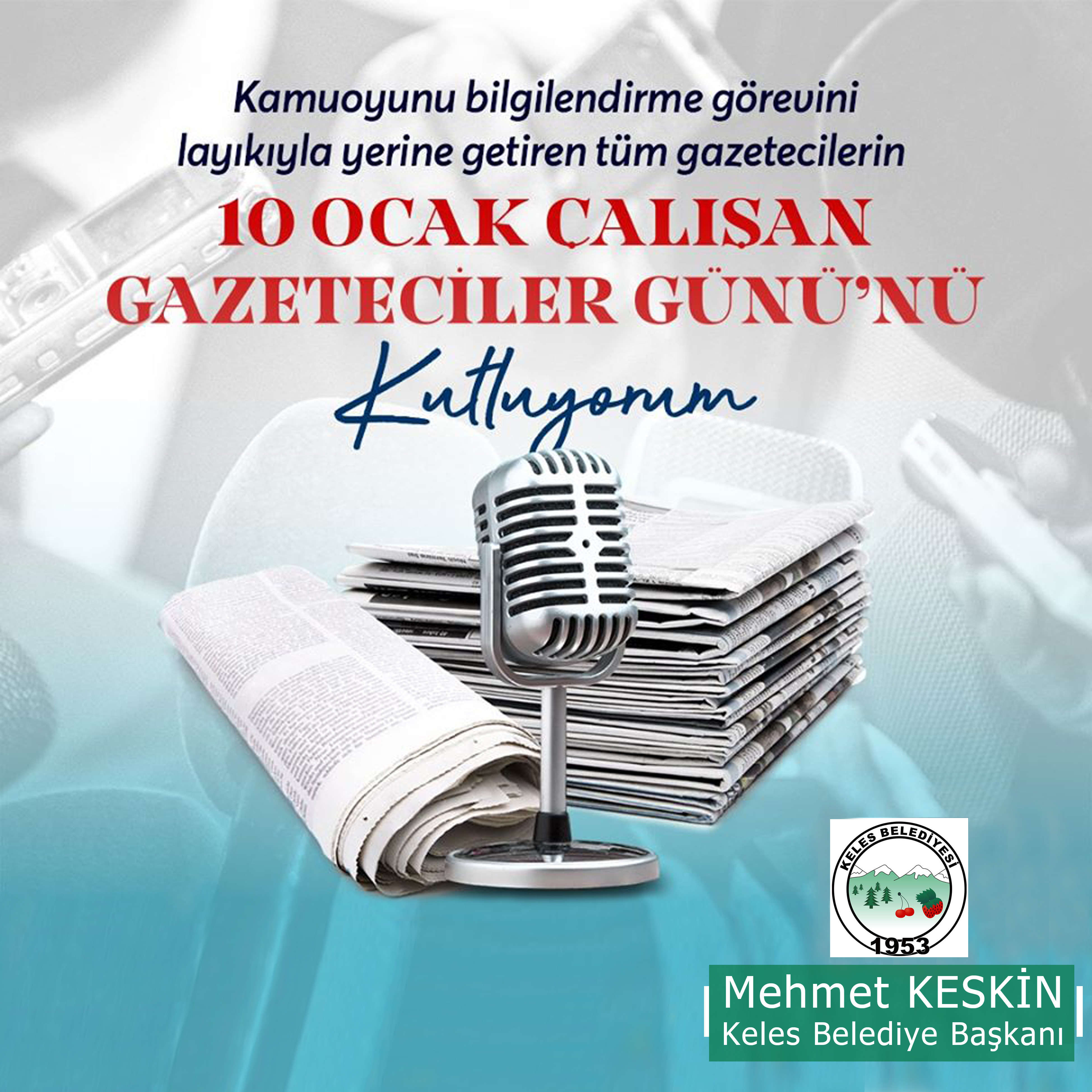 10 Ocak Çalışan Gazeteciler Günü Kutlama Mesajı