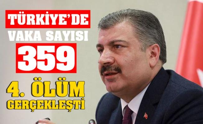 TÜRKİYE'KORONAVİRÜS VAKA SAYISI 359 ÖLÜ SAYISI 4 OLDU