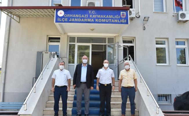 Başkan Aydın'dan İlçe Jandarma Komutanına Ziyaret