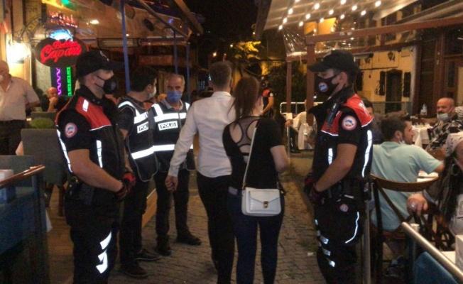 Bursa'da eğlence mekanlarına koronavirüs denetimi yapıldı