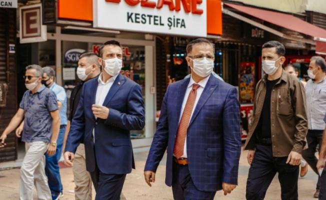 Kestel Belediye Başkanı koronavirüs denetimine katıldı