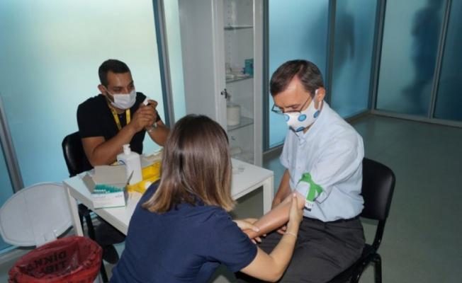 ULUTEK Teknopark çalışanlarına antikor testi uygulandı