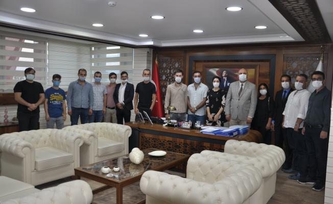 Ak Parti Gençli Kolları Başkan Aydın'ı ziyaret etti