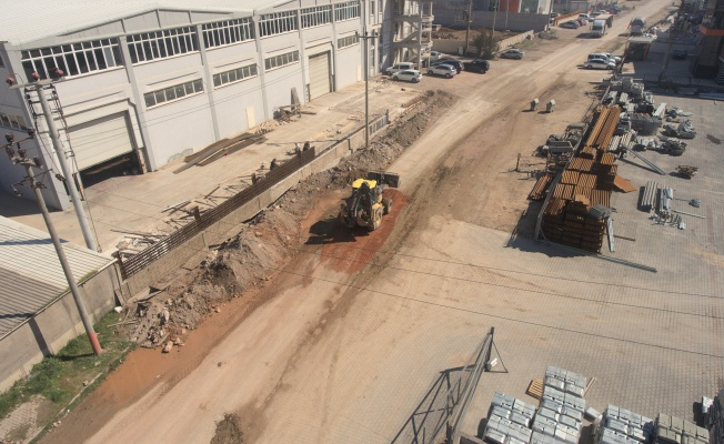BOSAB'ta 1. etap yağmur suyu altyapı çalışmaları başladı