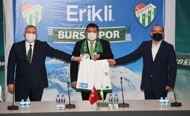Erikli, Bursaspor'un yanında yerini aldı