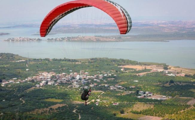 Nilüfer'de Türkiye Yamaç Paraşütü Hedef Şampiyonası tamamlandı