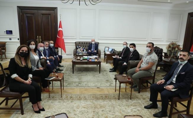 TPF Heyeti İçişleri Bakanı Süleyman Soylu'yu Ziyaret Etti