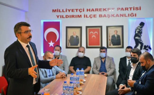 Yıldırım Belediye Başkanı Yılmaz'dan MHP ilçe teşkilatına ziyaret