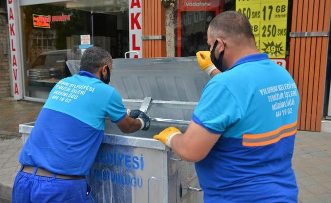 Yıldırım Belediyesi temizlik çalışmalarında fark yaratıyor