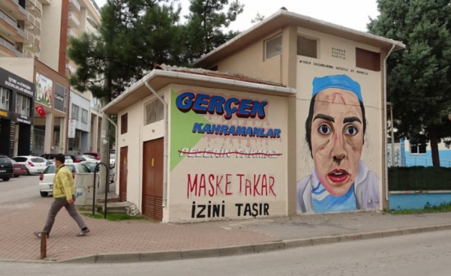 Bursa'da sağlık çalışanlarına sanatsal destek