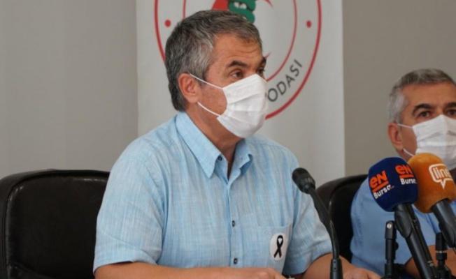 Bursa Tabip Odası Başkanı Türkkan: Önceliğimiz COVID-19, hekimlerimiz ve halksağlığı