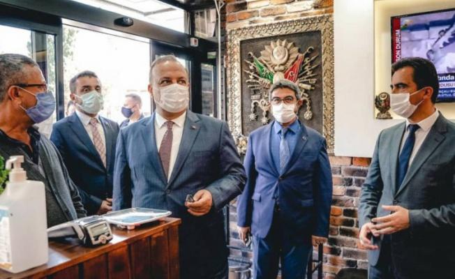Bursa Valisi Canbolat, Kestel'de korona virüs denetimine katıldı