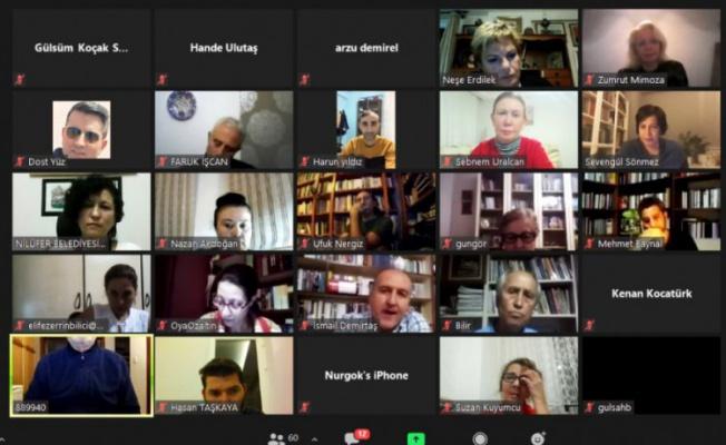 Bursalı okuyucular dijital söyleşide buluştu