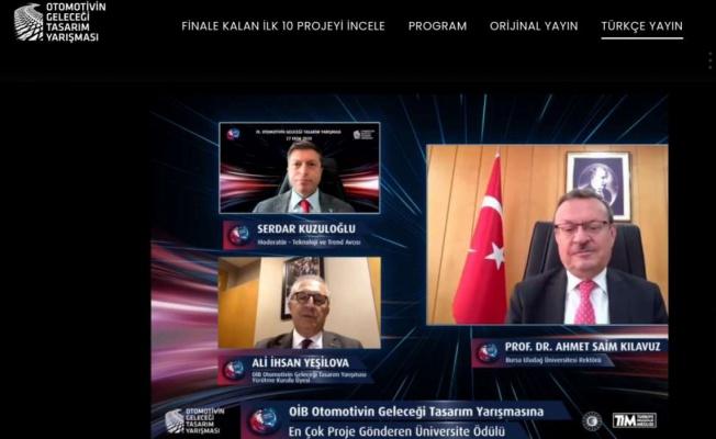 Otomotivin Geleceği Tasarım Yarışması'na Uludağ Üniversitesi imzası