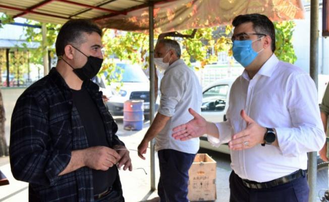 Yıldırım Belediye Başkanı Yılmaz, Otosansit esnafını ziyaret etti