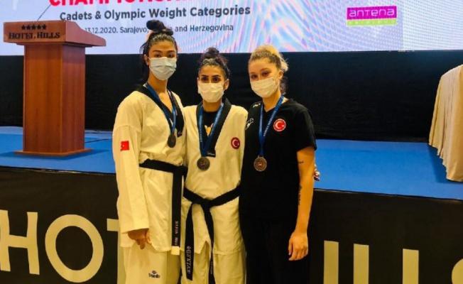 Avrupa Taekwondo Şampiyonası'nda 3 madalya