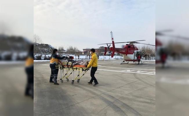 Bursa'da helikopter ambulans bu kez 78 yaşındaki hastayı taşıdı