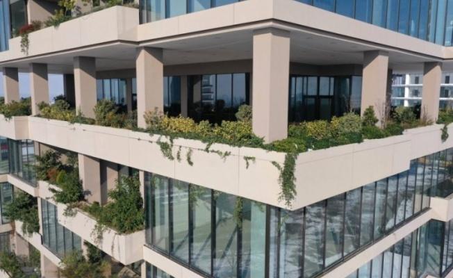 Bursa'daki 14 katlı bina adeta botanik bahçesini andırıyor