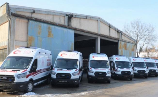 Bursa İl Sağlık Müdürlüğü'ne 10 ambulans daha verildi