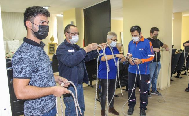 Karacabey'de gönüllü kahramanlar ekibi 'Karkurt' eğitimlere başladı