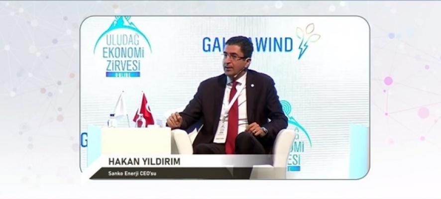 Sanko Enerji CEO'su Hakan Yıldırım Uludağ Ekonomi Zirvesine katıldı
