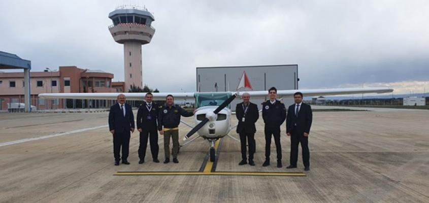 Sivil havacılık için ilk uçuş Milletvekili Ödünçten