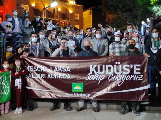 Bursa'dan Kudüs nöbeti