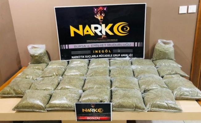Bursa'da 28,6 kilogram sentetik uyuşturucu ele geçirildi