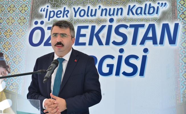 """""""İPEK YOLU'NUN KALBİ ÖZBEKİSTAN"""" SERGİSİ YILDIRIM'DA AÇILDI"""
