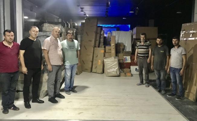 DERNEKLER FEDERASYONUNDAN BOZKURT'A 2 TIR YARDIM MALZEMESİ