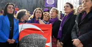 CHP'Lİ KADINLAR, KADINA ŞİDDETE KARŞI YÜRÜDÜ
