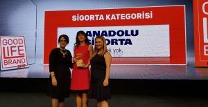 """Anadolu Sigorta'ya """"İyi Yaşam Markası"""" ödülü"""