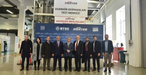 BTSO MESYEB Asansör Test Merkezine Üst Düzey Ziyaret