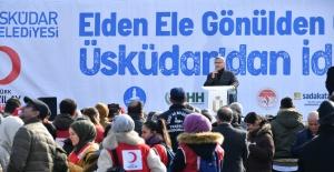 TÜRKİYE'DEN İDLİB'E EN BÜYÜK YARDIM KÖPRÜSÜ 85 TIRLA ÜSKÜDAR'DAN KURULDU