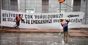 CADDE VE SOKAKLARDA 'KORONA' TEMİZLİĞİ