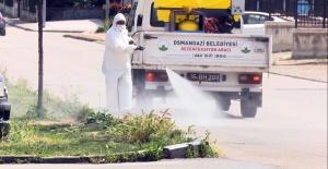 OSMANGAZİ'DE SOKAKLARI DEZENFEKTE EDİLİYOR