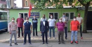 BAŞKAN YILMAZ'DAN MİNİBÜS ŞOFÖRLERİNE PANDEMİ UYARISI