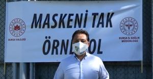 BURSASPOR'DAN 'MASKENİ TAK, ÖRNEK OL' KAMPANYASINA DESTEK