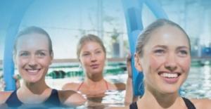 Bursa'da kadınlara özel suda cimnastik eğitimleri