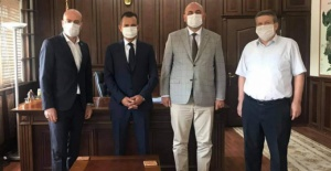Bursa milletvekili Zafer Işık'tan, Kaymakam Özçakıcı'ya ziyaret