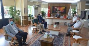 MHP ilçe teşkilatından Başkan Özkan'a ziyaret