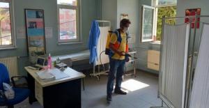 Osmangazi'de kamu binalarında dezenfekte çalışmaları