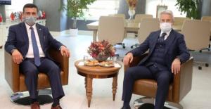 İYİ Parti Bursa İl Başkanı Türkoğlu'ndan Başkan Turgay Erdem'e ziyaret